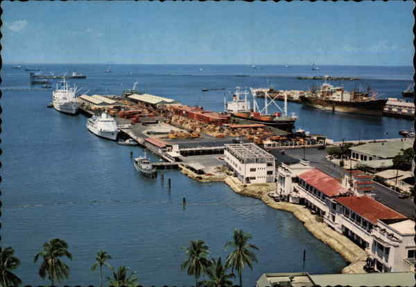 View of South Harbor Manila Philippines Southeast Asia