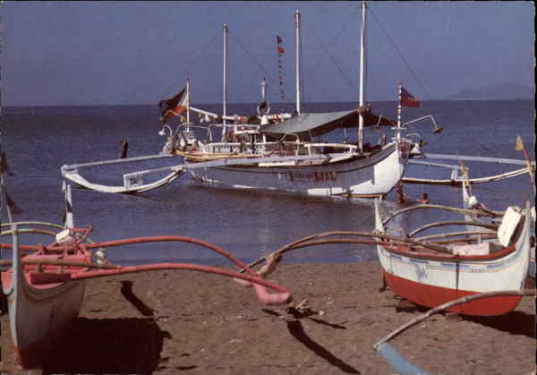 Boats on the Batangas beach Philippines Southeast Asia