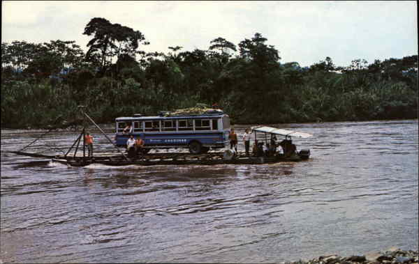 Barge on the Pastaza River Ecuador South America