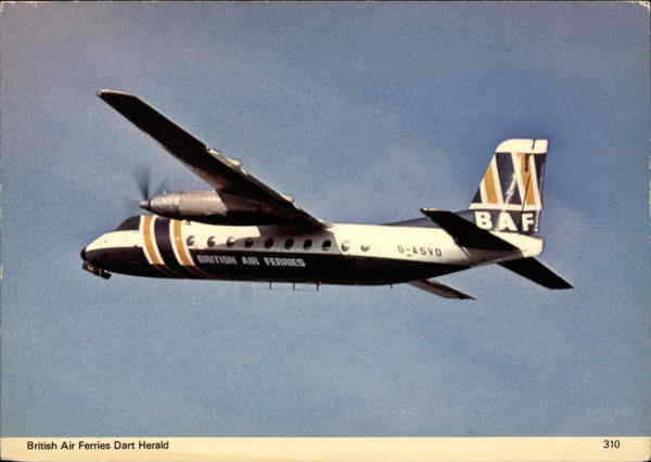 British Air Ferries Dart Herald Aircraft