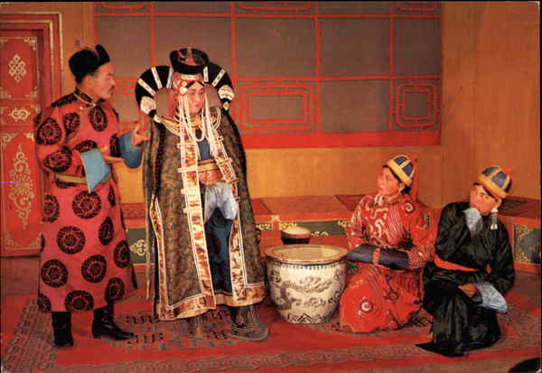Scene from a Theatre Performance Ulan Bator Mongolia
