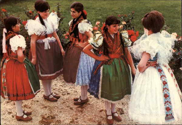 Girls in Popular Costume Kapuvar Hungary