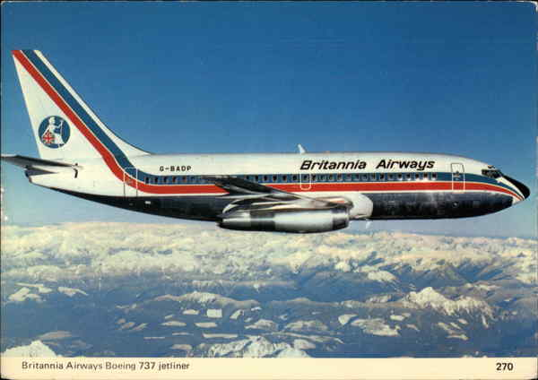Britannia Airways Boeing 737 jetliner Aircraft