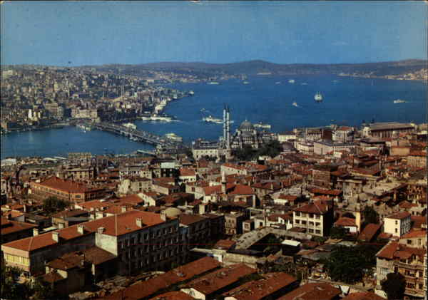 A View of Galata Bridge, Bosphorus and Scutary Istanbul Turkey