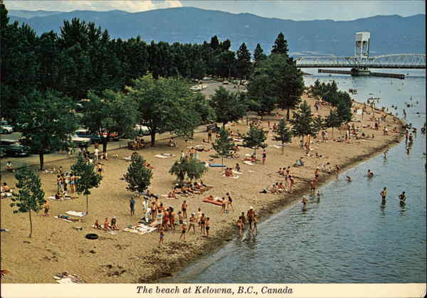 View of the Beach Kelowna Canada British Columbia