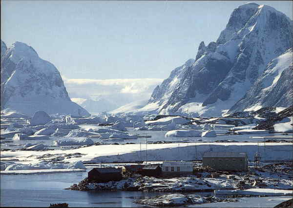 Faraday Station Galindez Island Antarctica