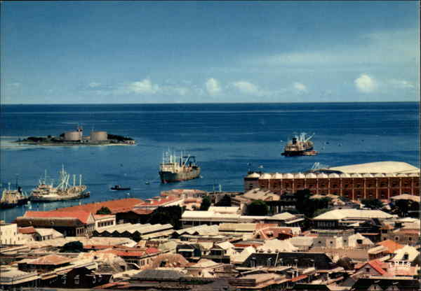 General View Port Louis Mauritius Africa