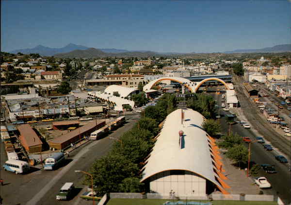 Bird's Eye View of Border Crossing Nogales Mexico