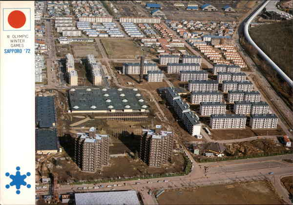 Aerial View of Olympic Village Sapporo Japan