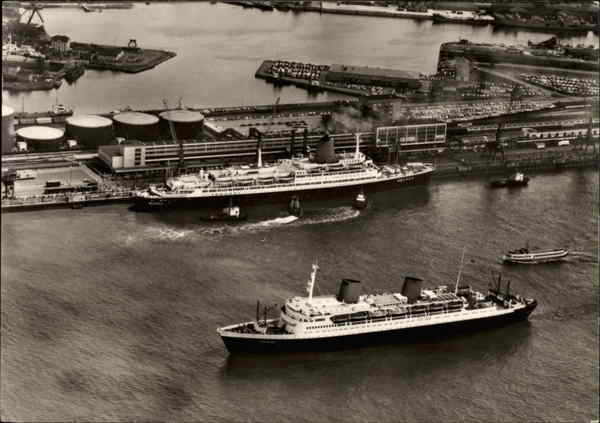 Passenger Ships TS Bremen and MS Europa Bremerhaven Germany