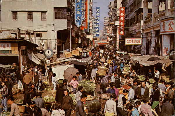 Open Air Market Kowloon Hong Kong China
