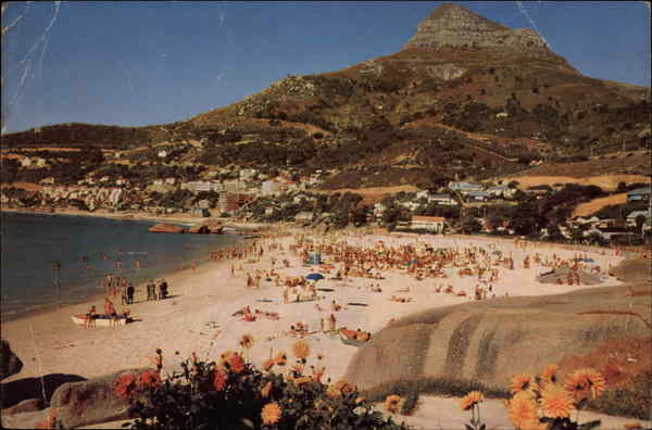 Fourth Beach Clifton, a Popular Bathing Beach on the Atlantic Ocean South Africa