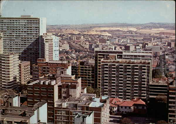 View across Hillbrow Johannesburg South Africa