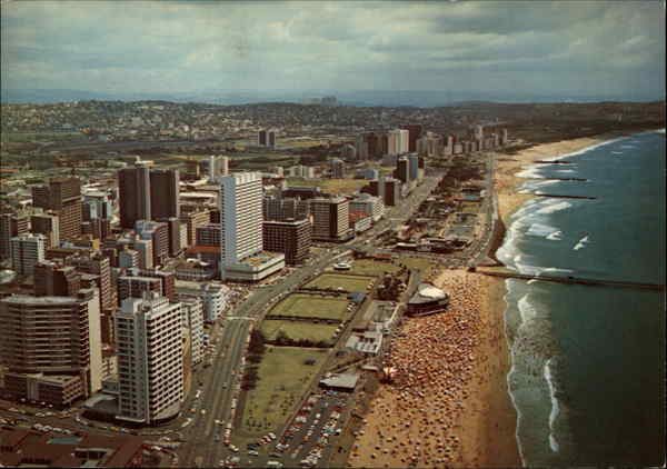 Aerial View of Beachfront Durban NATAL South Africa