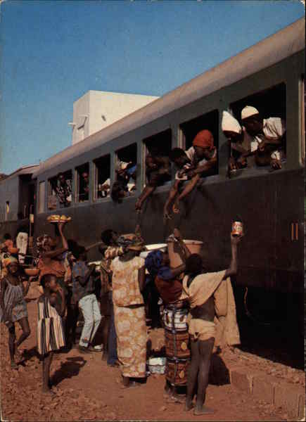 Koudougou Train Station, With Open Air Buffet Burkina Faso