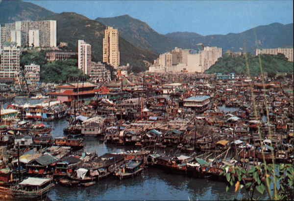 Bird's Eye View of the City Aberdeen Hong Kong China