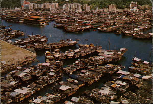 Bird's Eye View of Port Aberdeen Hong Kong China