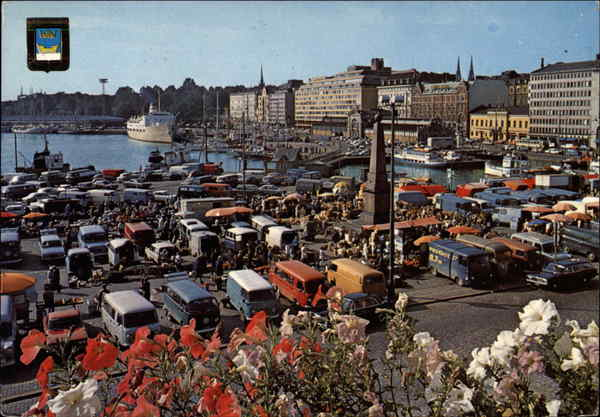 The Market Square and the South Harbour Helsinki Finland
