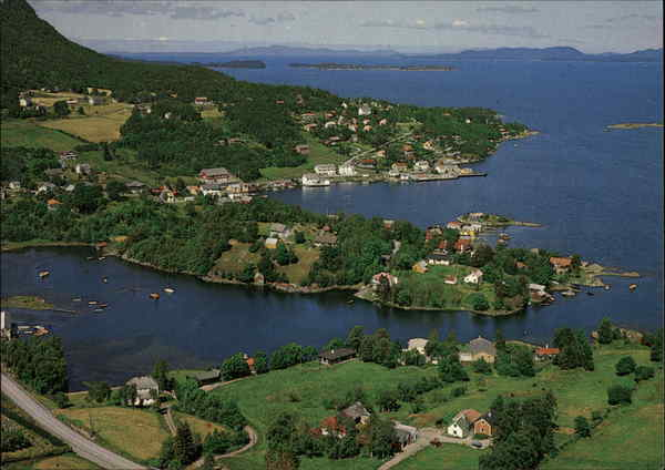 Aerial View of Vage Norway
