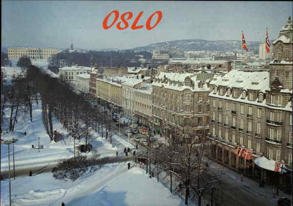 Karl Johan Avenue Oslo Norway