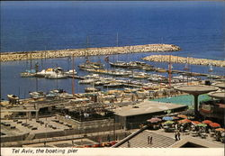The Boating Pier and Marina Postcard