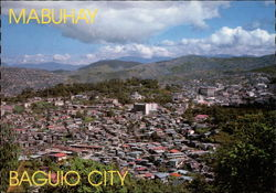 Overview of Baguio City Postcard