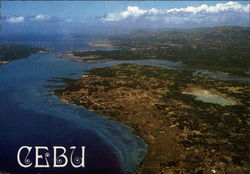 Aerial view of Cebu City and Mactan Island