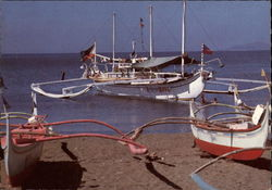 Boats on the Batangas beach Postcard