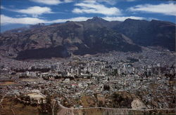 View of Quito with Volcano Pichincha