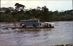 Barge on the Pastaza River