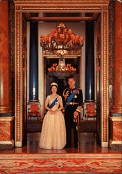 Her Majesty Queen Elizabeth and His Royal Highness The Duke of Edinburgh Postcard