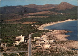 Areal View of Cala Aguila Postcard