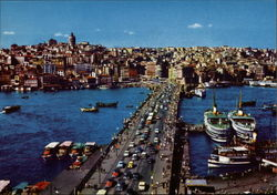 General View of Galata Bridge Postcard