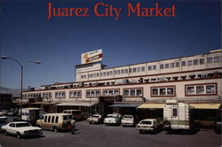 Juarez City Market Postcard