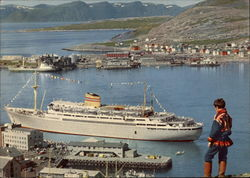 Bergen Fjord With M/S Bergensfjord in Port