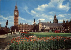 Big Ben and Parliament Square Postcard