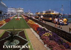 The Carpet Gardens and Dotto Train Postcard