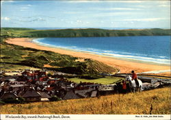 Woolacombe Bay, towards Putsborough Beach Postcard
