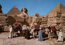 The Great Sphinx and Keops Pyramid Postcard