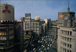 Aerial View from Ginza-Yonchome to Yurakucho Postcard