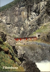 The Flam Line at the Kjosfossen Waterfall