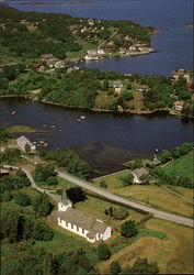 Aerial view of Våge (Tysnes)