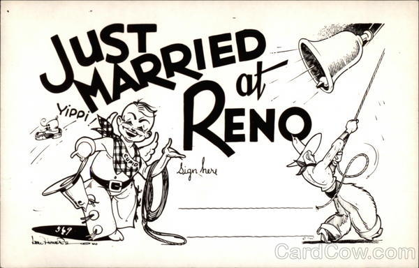 Just Married at Reno Nevada Marriage & Wedding