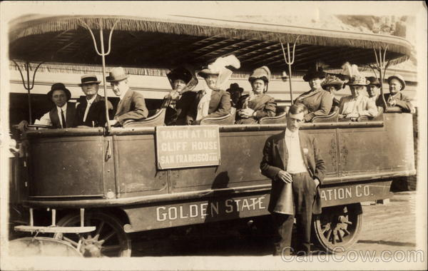 Golden State Transportation Co. Trolley San Francisco California