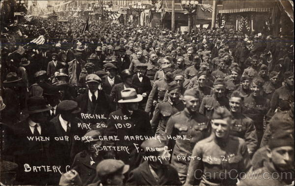 When Our Boys Came Marching Home Racine Wisconsin World War I