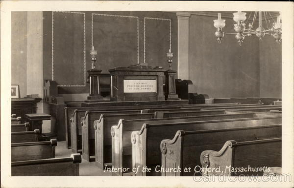 Interior of the Church Oxford Massachusetts