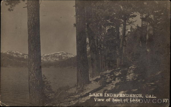 View of Head of Lake Lake Independence California