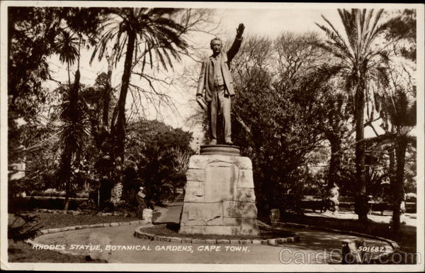 Rhodes Statue, Botanical Gardens Cape Town South Africa