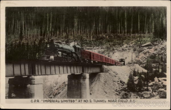 Canadian Pacific Railway Imperial Limited at No. 2 Tunnel Field Canada