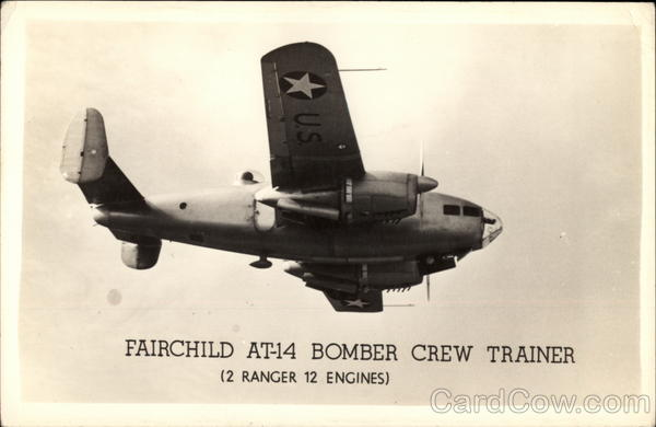 Fairchild AT-14 Bomber Crew Trainer Aircraft